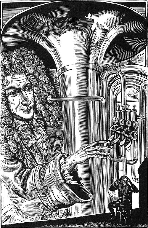 Король любил музыку, и при дворе часто давались концерты, на которые иногда приносили и меня и помещали в ящике стола; однако звуки инструментов были так оглушительны, что я с трудом различал мотив.